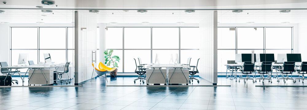 3d render image of modern interior office building