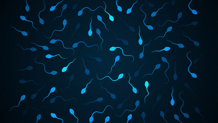 Obraz Sperm icon. human sperm cells - fototapety do salonu