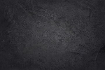 Obraz Dark grey black slate texture with high resolution, background of natural black stone wall. - fototapety do salonu