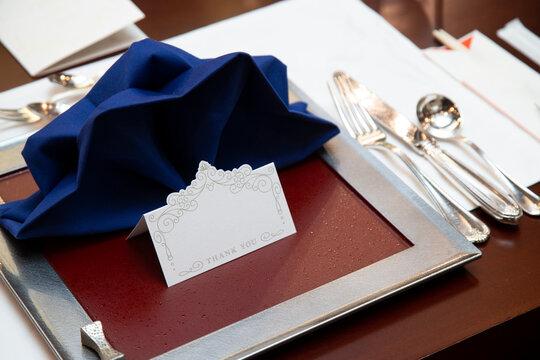 Wedding Takasago table setting groom side