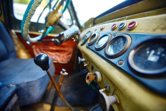 old vintage car control panel