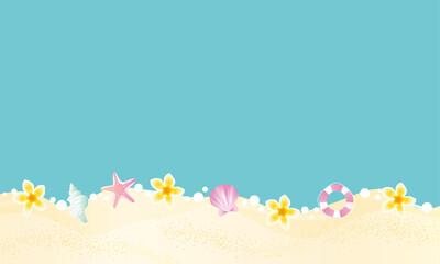 Obraz 夏の青いリゾート 背景イラスト  - fototapety do salonu
