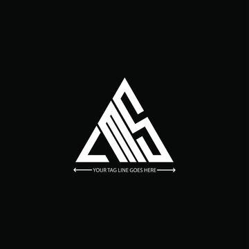 LMS letter logo creative design. LMS unique design