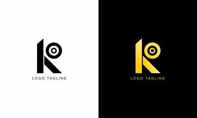 Fototapeta Letter KO Logo Design. Initial Letter Logo for Business obraz