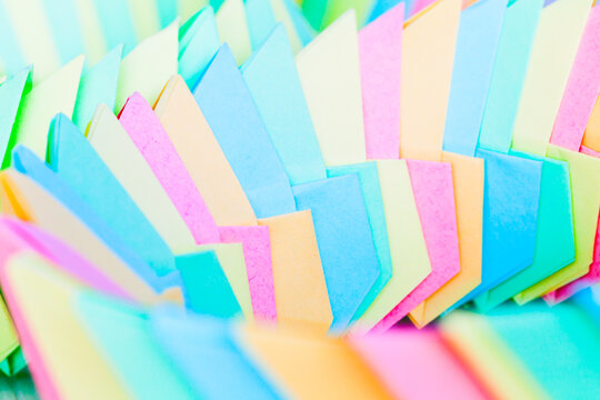 Abstract colorful origami background