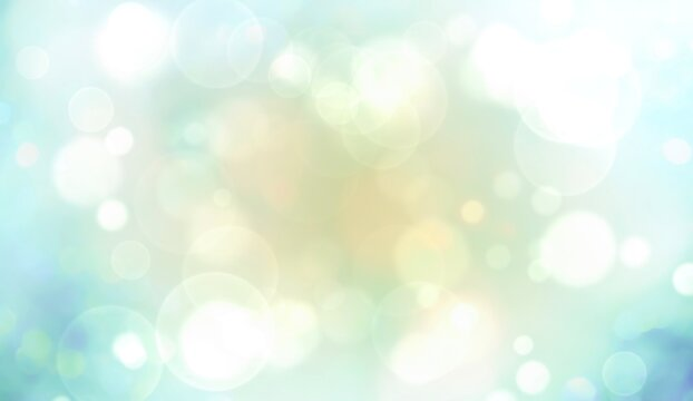 Abstract blue, green background with bokeh - Spring , Christmas wallpaper