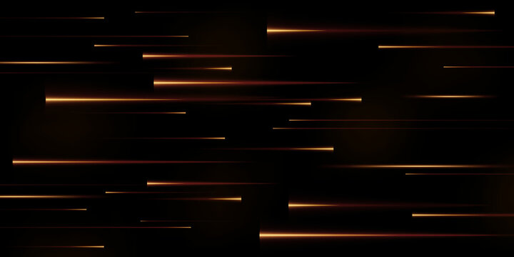 Collection of gold speed lines isolated. Gold light, electric light, light effect png. Curve gold line png for games, video, photo, callout, HUD. Isolated vector illustration.