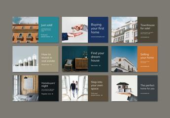 Fototapeta Real Estate Advertising Banner Layout obraz