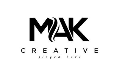 Obraz Letter MAK creative logo design vector - fototapety do salonu