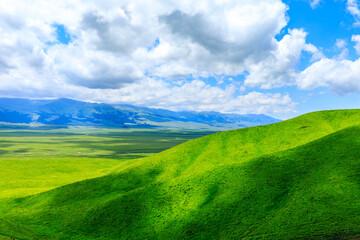 Nalati Grassland natuurlijke landschap in Xinjiang, China.