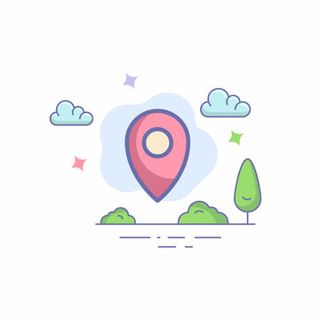 map pin vector icon.Amap pin vector icon concept. Useful for website, greeting cards, apps, and social media posts.