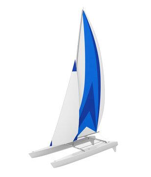 Sport Catamaran Boat Isolated
