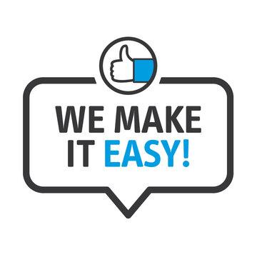 we make it easy vector illustration concept