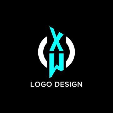 XW circle monogram logo