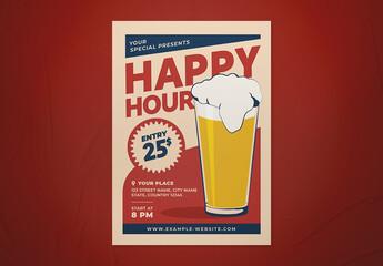 Fototapeta Happy Hour Flyer obraz