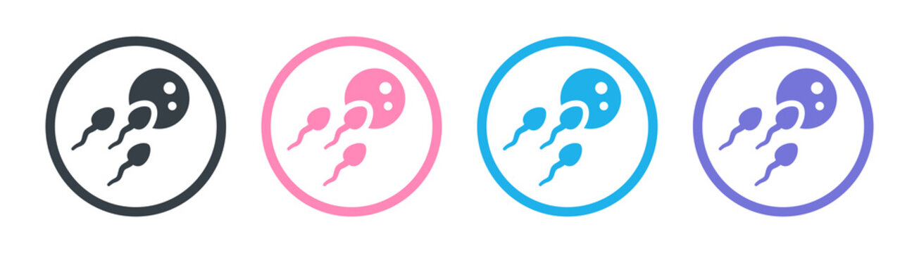 Conception of egg and sperm icon vector illustration.