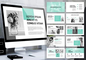 Fototapeta Simple and Neutral Business Presentation obraz