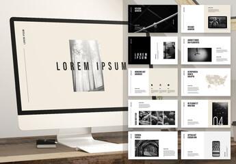 Fototapeta Modern and Minimalist Presentation obraz
