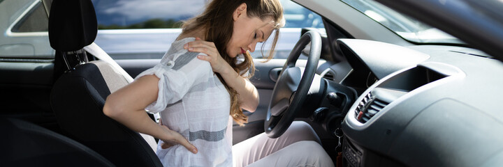 Injury And Car Accident. Whiplash