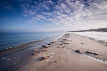 Morze Bałtyckie zima