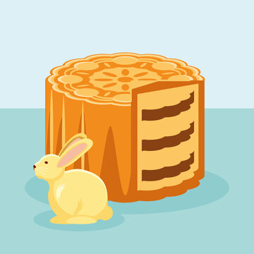 mooncake and rabbit