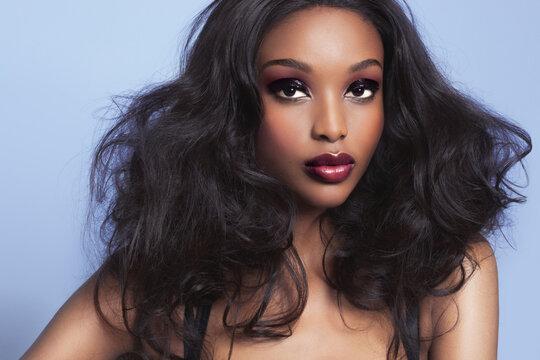 Beautiful African Woman With Makeup