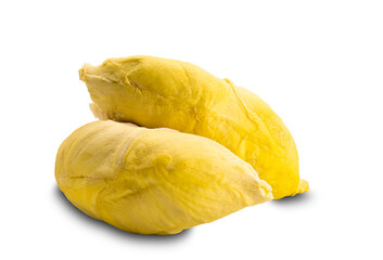 Fototapete - Ripe sweet durian isolated on white background.