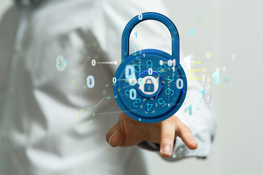 Information technology protected with firewall, secure access and encryption against cyber