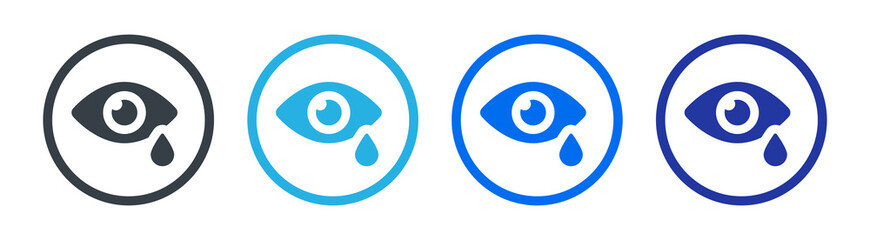 Obraz Crying icon. Eye with tear icon vector illustration - fototapety do salonu