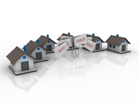 3d illustration Concept of home network