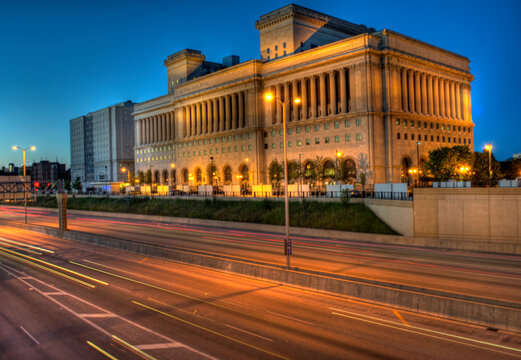 Milwaukee County Courthouse building in classical revival style