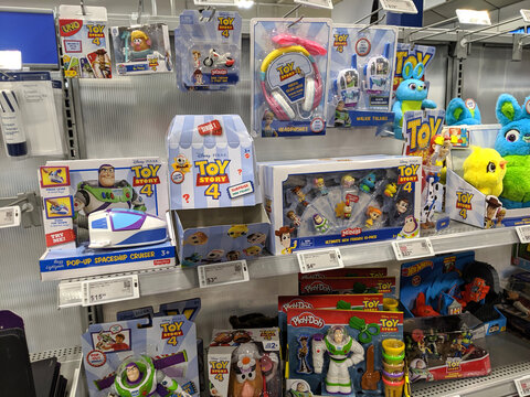 Toy Story 4 Toys on display