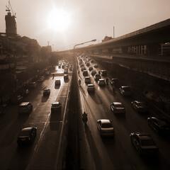 Street at city in bangkok