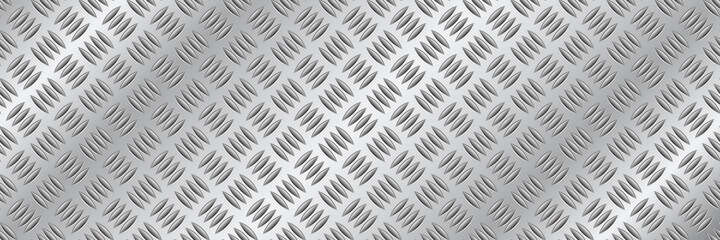 horizontal silver diamond plate design for pattern and background