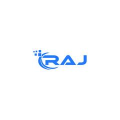 Obraz RAJ letter logo design on white background. RAJ creative initials letter logo concept. RAJ letter design.  - fototapety do salonu