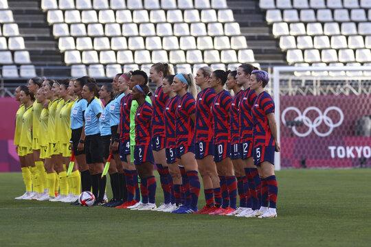 Soccer Football - Women - Bronze medal match - Australia v United States