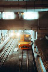 Train in a Train Station