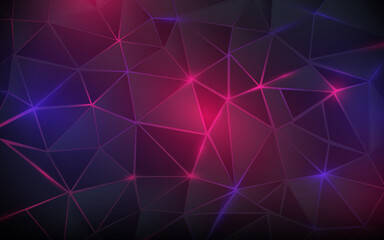 Obraz Abstract triangle and geometric background. Digital futuristic technology concept. Vector illustration - fototapety do salonu