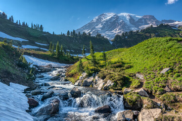 mountain river in the mountains
