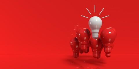 One out unique idea light bulb
