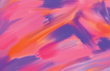 Abstract painted impressionist dreamscape with pink and purple brush strokes, photo backdrop for virtual set, animation closeup background, medical and corporate presentation background