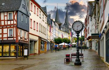 Fototapeta Montabauer im Westerwald,  Fussgängerzone obraz