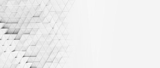 Obraz Abstract shifted white triangles background wallpaper banner wit - fototapety do salonu