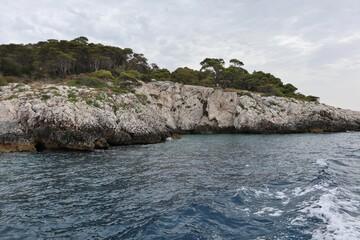 Fototapeta Isole Tremiti - Scorcio di Punta dello Zio Cesare dalla barca obraz