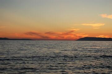 morze, adriatyk, chorwacja, chmury