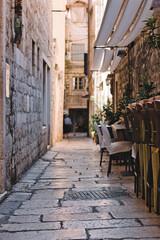 Split Kroatië smalle straatjes en steegjes middeleeuws tijdperk Europa