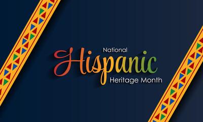 Fototapeta Hispanic National Heritage Month in September and October. Hispanic and Latino culture. Latin American patterns. obraz