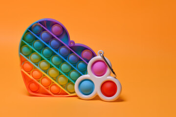 Pop it and Simple dimple - New popular colorful silicone sensory trendy toys antistress in the form...