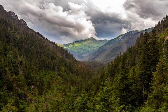 Beautiful landscape of the Tatra Mountains