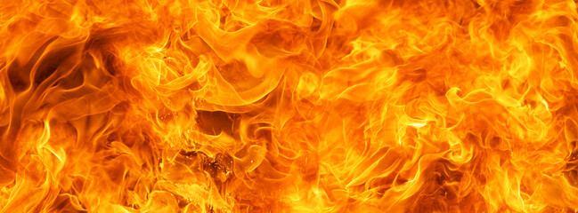 Obraz Blaze Fire Flame Conflagration Texture For Banner Background - fototapety do salonu